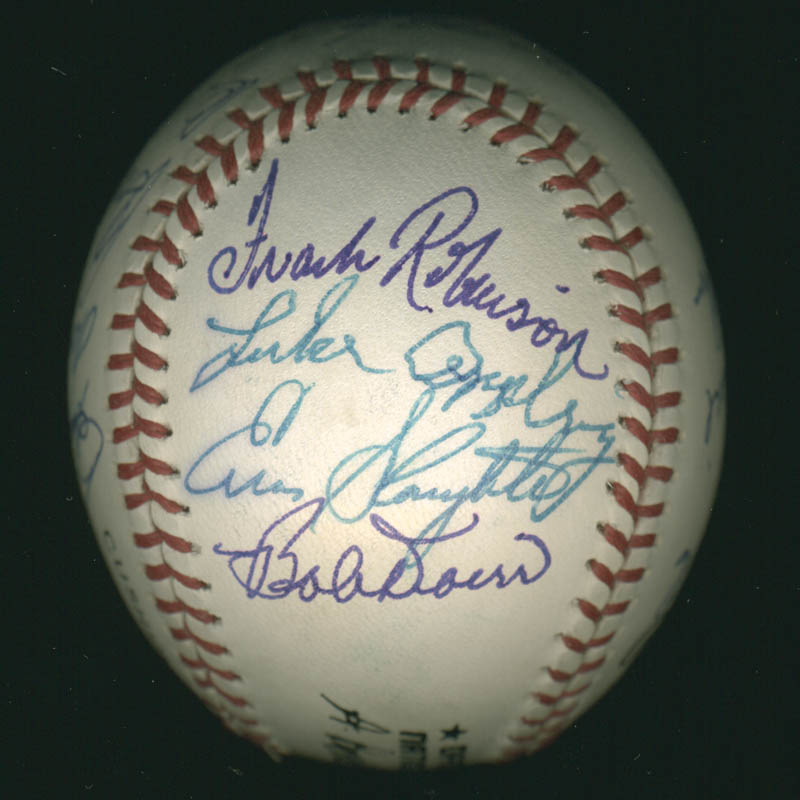 Image 6 for Hall Of Fame Baseball - Autographed Signed Baseball with co-signers - HFSID 279566