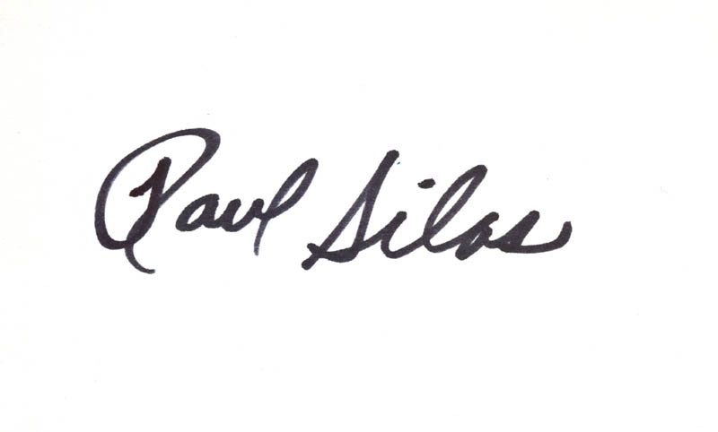 Image 1 for Paul Silas - Autograph - HFSID 279568