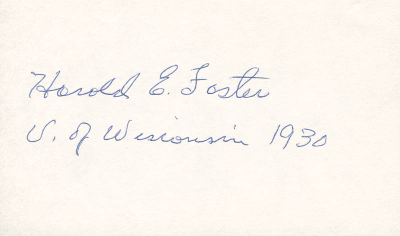 Image 1 for Harold E Foster - Autograph - HFSID 279588