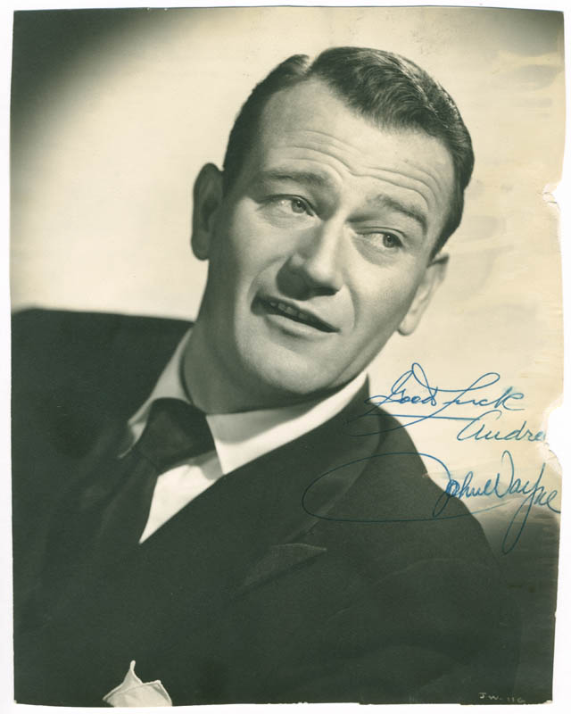 Image 1 for John 'Duke' Wayne - Autographed Inscribed Photograph - HFSID 279600