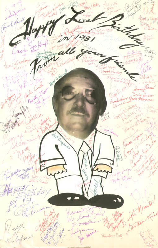 Image 1 for Frank Sinatra - Poster Unsigned Circa 1981 With Jilly Rizzo - HFSID 279623