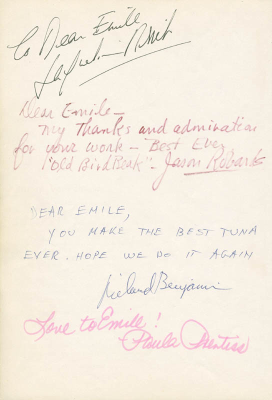 Image 1 for Jason Robards Jr. - Book Page Signed co-signed by: Paula Prentiss, George Segal, Richard Benjamin - HFSID 279634