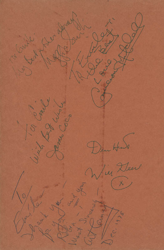 Image 1 for James 'Jimmy' Coco - Book Page Signed co-signed by: Will A. Geer, Cameron Mitchell, Dame Maggie Smith, Art Carney - HFSID 279635