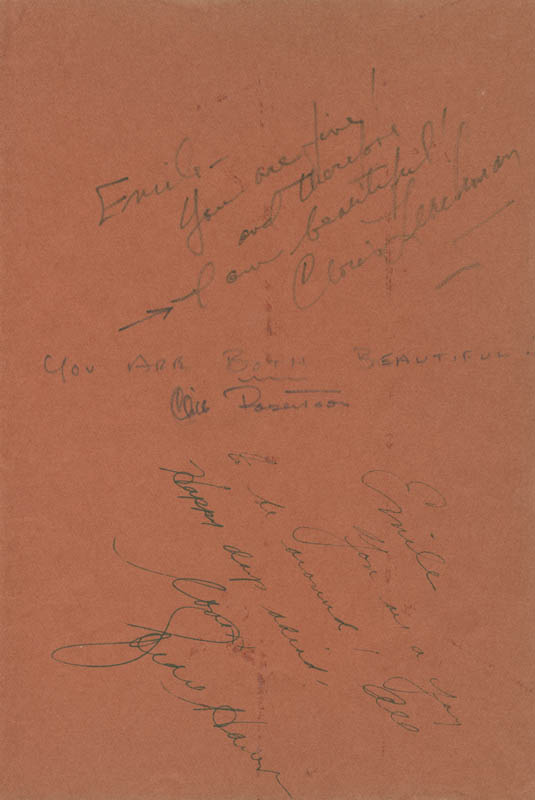 Image 1 for Cloris Leachman - Autograph Note Signed co-signed by: Cliff Robertson, Goldie Hawn - HFSID 279636