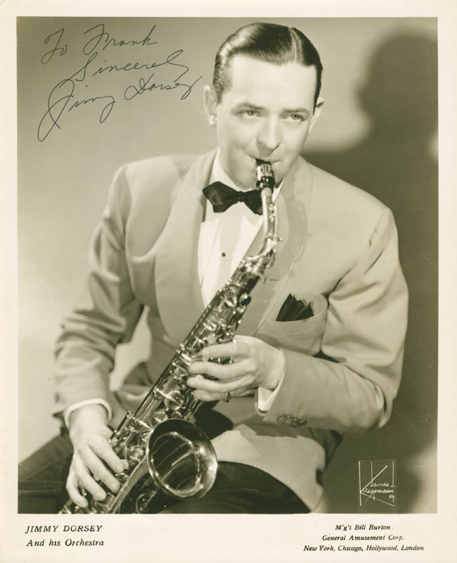 Image 1 for Jimmy Dorsey - Autographed Inscribed Photograph - HFSID 279725