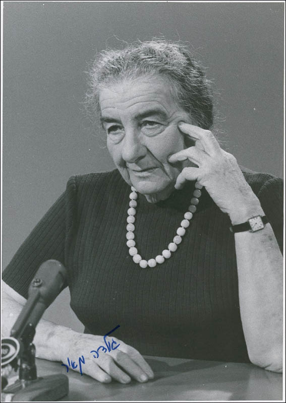Image 1 for Prime Minister Golda Meir (Israel) - Autographed Signed Photograph - HFSID 279726