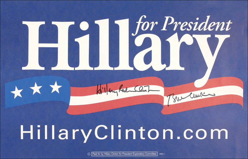 Image 1 for President William J. 'Bill' Clinton - Advertisement Signed co-signed by: First Lady Hillary Rodham Clinton - HFSID 279730