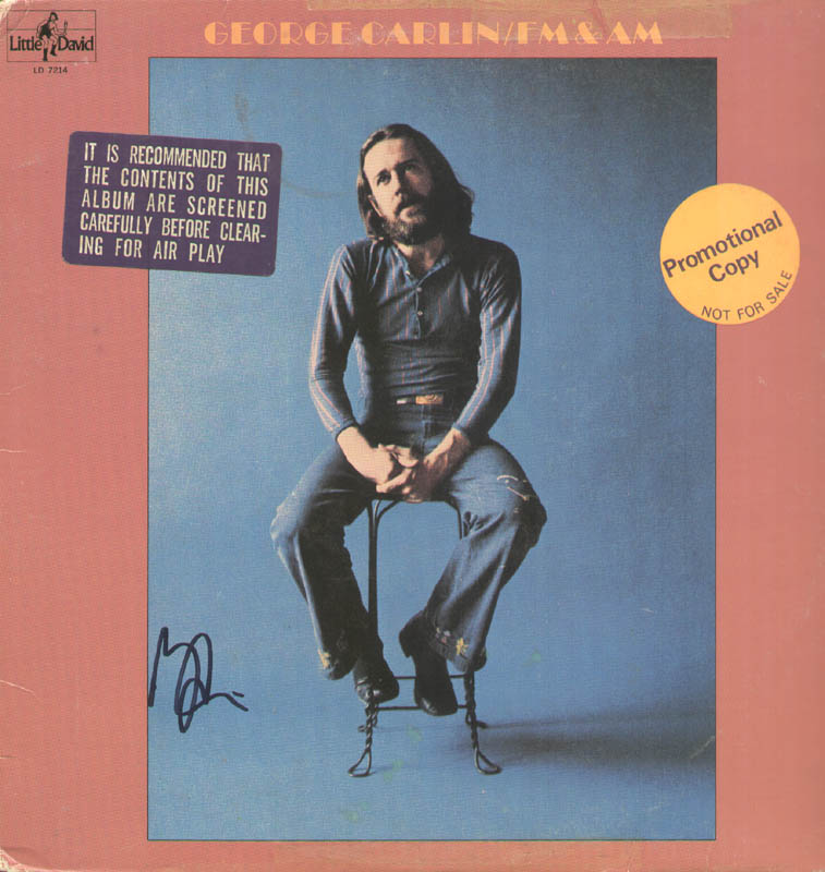 Image 1 for George Carlin - Record Album Cover Signed - HFSID 279736