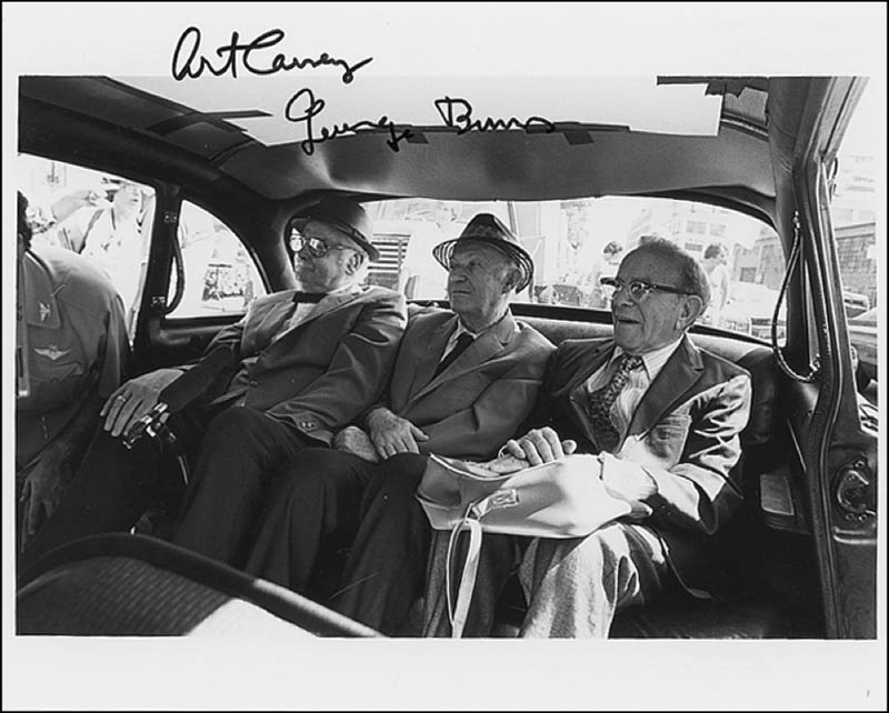 Image 1 for Going In Style Movie Cast - Autographed Signed Photograph co-signed by: George Burns, Art Carney - HFSID 279751