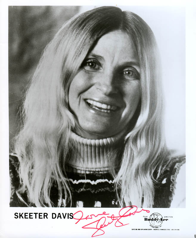 Image 1 for Skeeter Davis - Autographed Signed Photograph - HFSID 279964