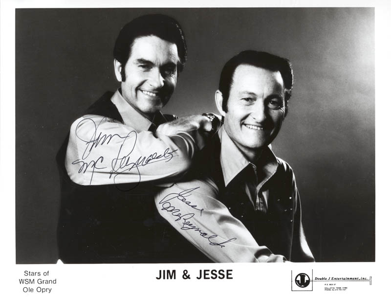Image 1 for Jim & Jesse - Autographed Signed Photograph co-signed by: Jim & Jesse (Jim Mc Reynolds), Jim & Jesse (Jesse Mc Reynolds) - HFSID 280076