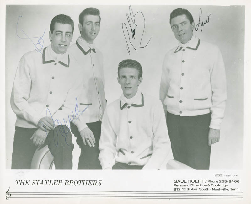 Image 1 for The Statler Brothers - Autographed Signed Photograph with co-signers - HFSID 280089