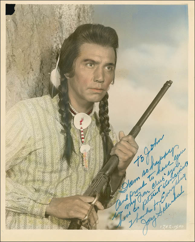 Image 1 for Jay 'Tonto' Silverheels - Autographed Inscribed Photograph - HFSID 280144