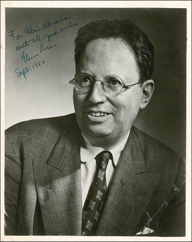 Image 1 for Elmer Rice - Autographed Inscribed Photograph 09/1954 - HFSID 280151