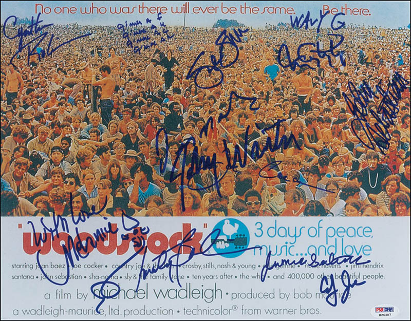 Image 1 for Woodstock - Autographed Signed Photograph with co-signers - HFSID 280171