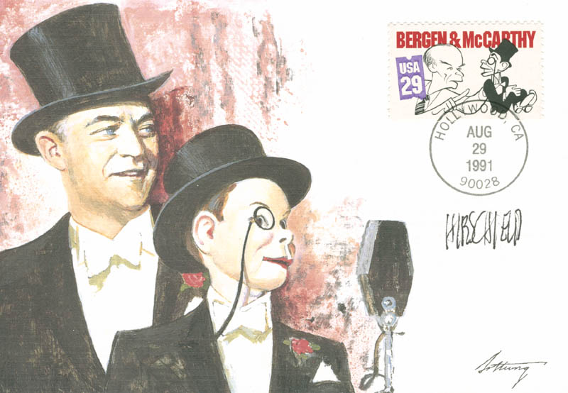 Image 1 for Al Hirschfeld - First Day Cover Signed - HFSID 280182