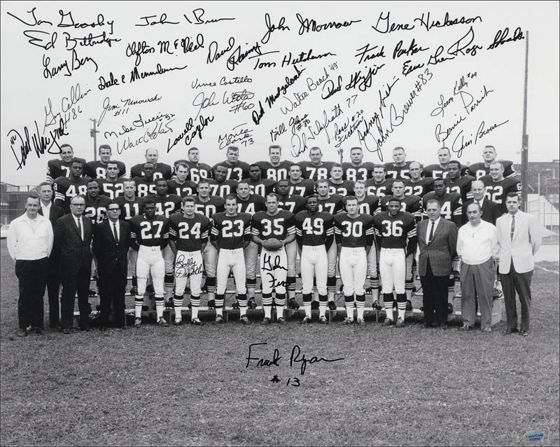 Image 1 for Cleveland Browns - Autographed Signed Photograph Circa 1964 with co-signers - HFSID 280215