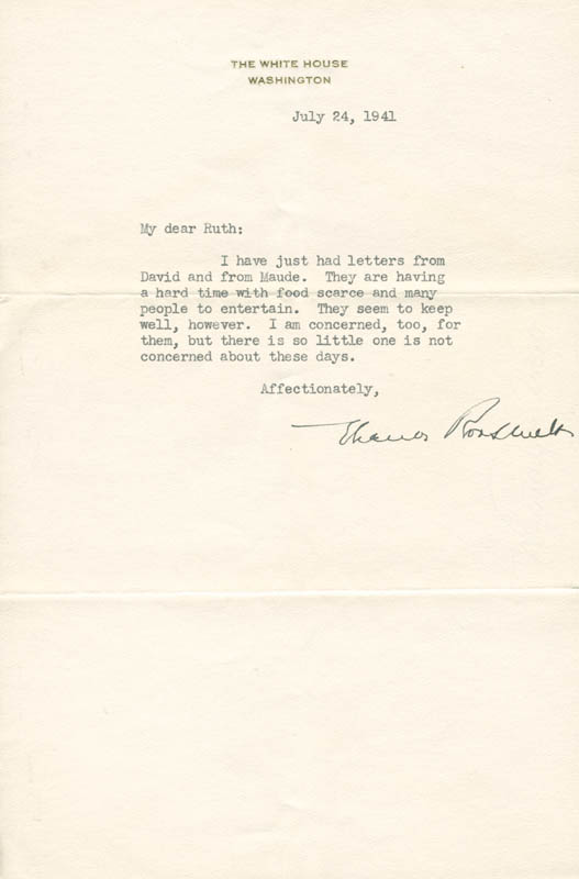 Image 1 for First Lady Eleanor Roosevelt - Typed Letter Signed 07/24/1941 - HFSID 280290