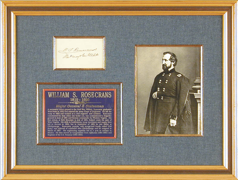 Image 1 for Major General William S. 'Old Rosy' Rosecrans - Autograph - HFSID 28031