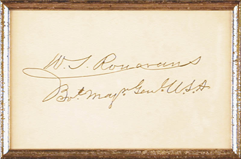 Image 3 for Major General William S. 'Old Rosy' Rosecrans - Autograph - HFSID 28031