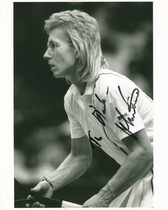 Image 1 for Martina Navratilova - Autographed Inscribed Photograph - HFSID 280355