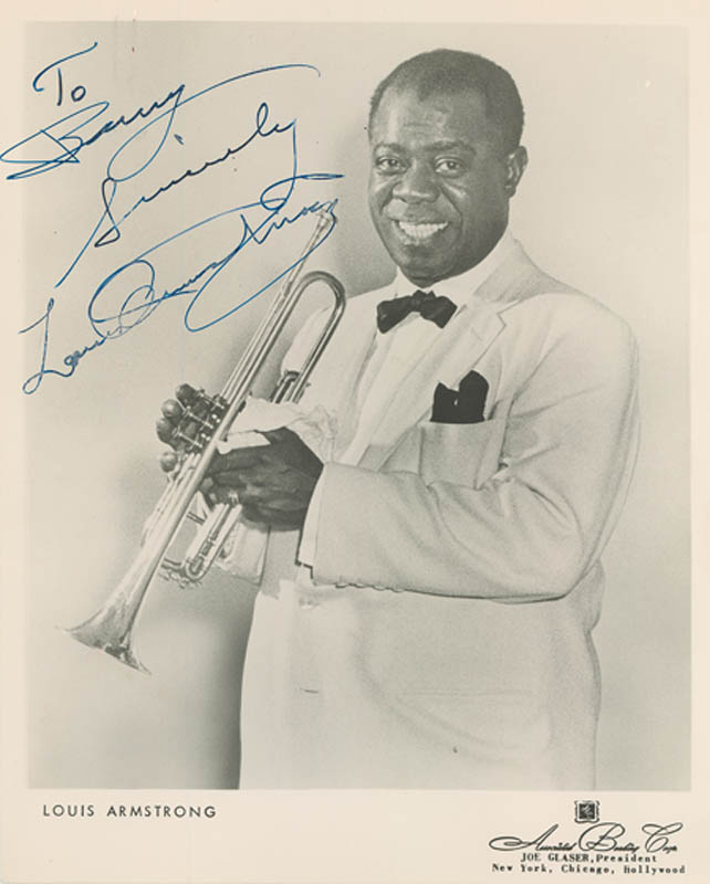 Image 1 for Louis 'Satchmo' Armstrong - Autographed Inscribed Photograph - HFSID 280365
