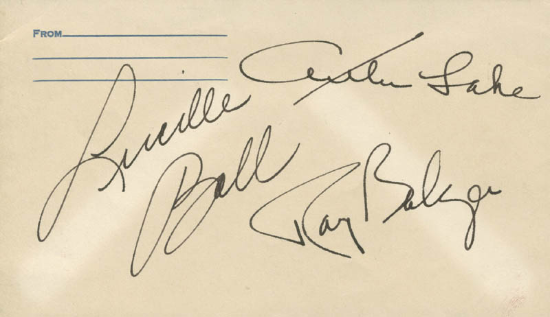 Image 1 for Lucille 'Lucy' Ball - Envelope Signed co-signed by: Ray Bolger, Arthur Lake - HFSID 280388
