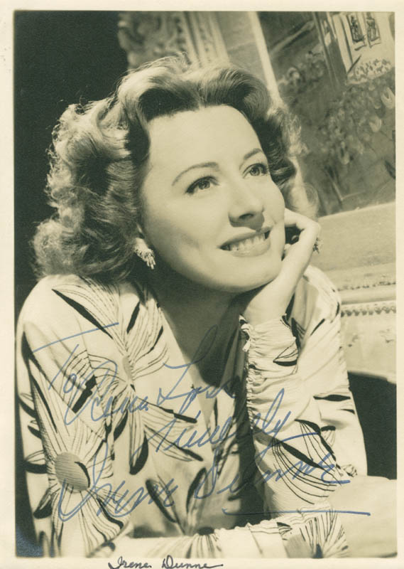 Image 1 for Irene Dunne - Autographed Inscribed Photograph - HFSID 280426