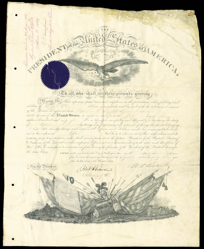 Image 3 for President Ulysses S. Grant - Military Appointment Signed 03/06/1869 with co-signers - HFSID 28051
