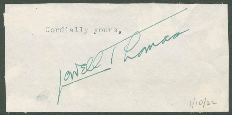 Image 1 for Lowell Thomas - Typed Sentiment Signed - HFSID 280701