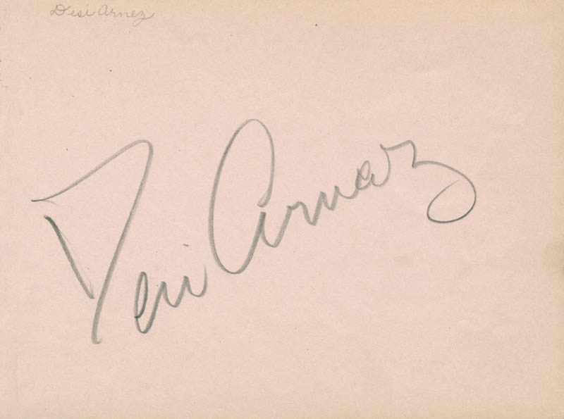Image 2 for Desi Arnaz Sr. - Autograph co-signed by: Bert Wheeler - HFSID 280734