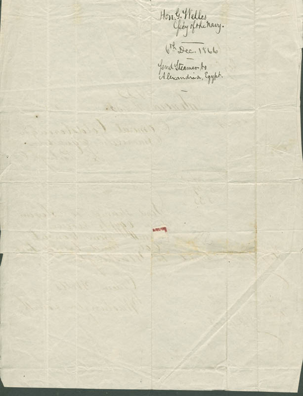 Image 3 for Gideon Welles - Telegram Unsigned 12/06/1866 - HFSID 280762