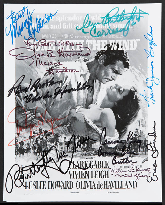 Image 1 for Gone With The Wind Movie Cast - Autographed Signed Photograph with co-signers - HFSID 280771