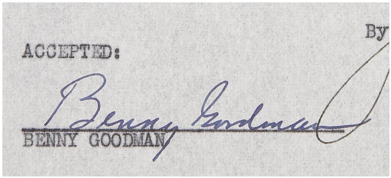Image 3 for Benny Goodman - Document Signed 03/28/1951 - HFSID 280783