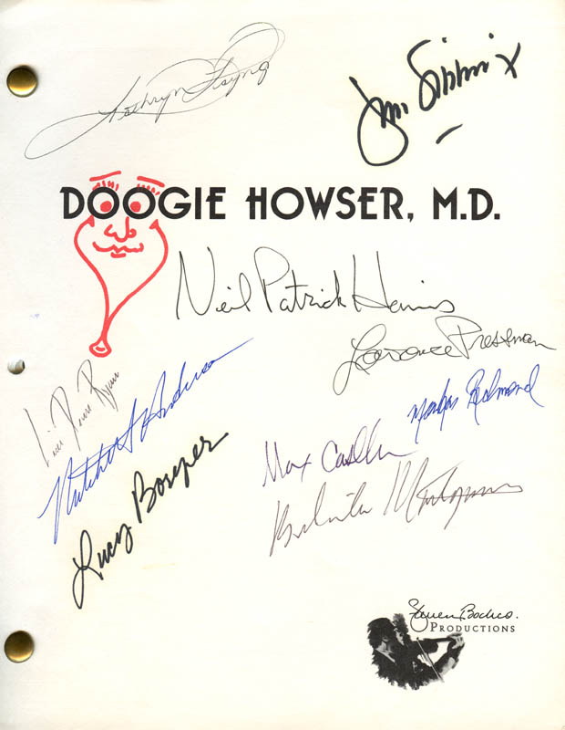 Image 1 for Doogie Howser, M.D. TV Cast - Script Signed with co-signers - HFSID 280813