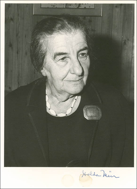 Image 1 for Prime Minister Golda Meir (Israel) - Autographed Signed Photograph - HFSID 280912