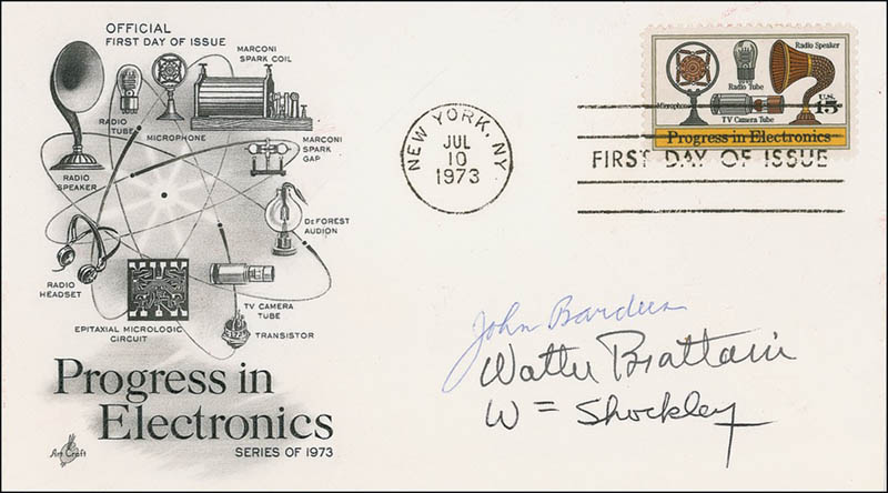 William Shockley - First Day Cover Signed with Cosigners