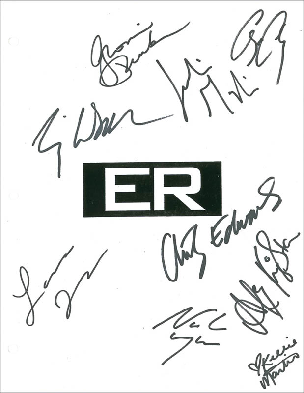 Image 1 for Er TV Cast - Script Signed with co-signers - HFSID 280918