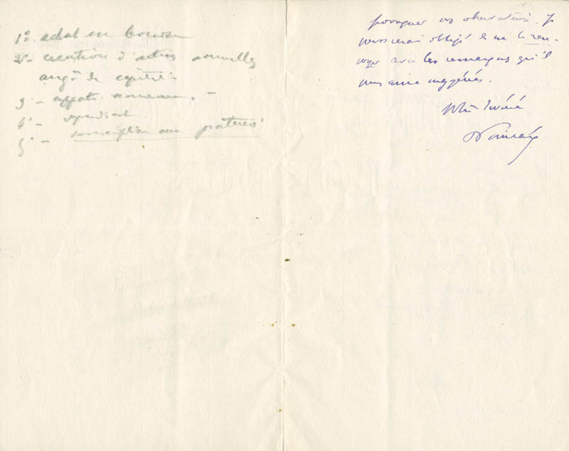 Image 1 for Prime Minister Raymond Poincare (France) - Autograph Letter Signed 06/17/1909 - HFSID 280948