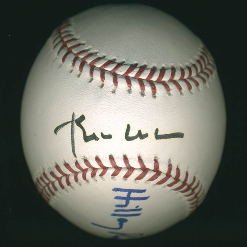 Image 1 for President William J. 'Bill' Clinton - Autographed Signed Baseball co-signed by: First Lady Hillary Rodham Clinton - HFSID 280995