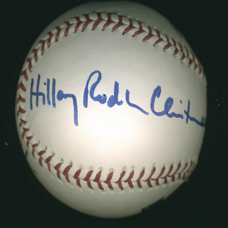 Image 3 for President William J. 'Bill' Clinton - Autographed Signed Baseball co-signed by: First Lady Hillary Rodham Clinton - HFSID 280995