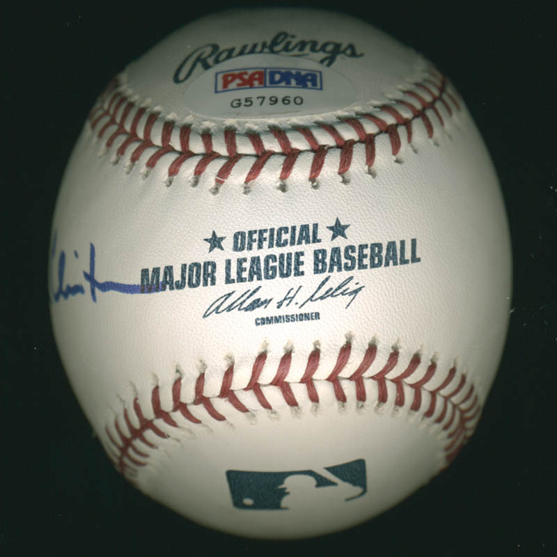 Image 4 for President William J. 'Bill' Clinton - Autographed Signed Baseball co-signed by: First Lady Hillary Rodham Clinton - HFSID 280995