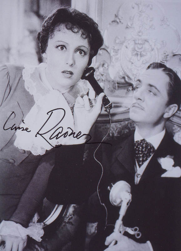 Image 1 for Luise Rainer - Autographed Signed Photograph - HFSID 281042