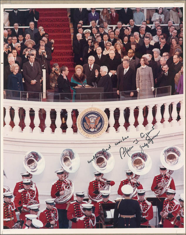 Image 1 for Vice President Spiro T. Agnew - Autographed Signed Photograph co-signed by: Judy (Mrs. Spiro) Agnew - HFSID 281118