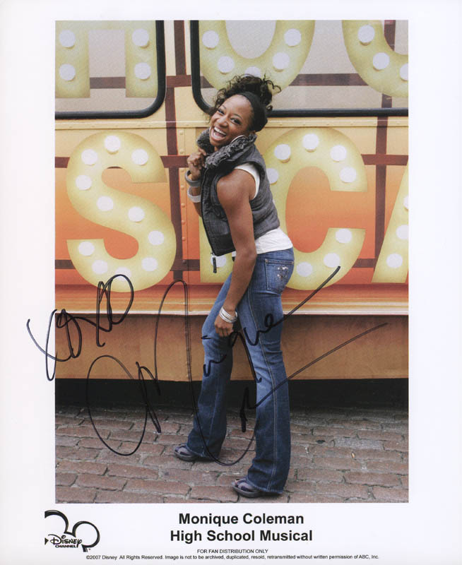 Image 1 for Monique Coleman - Autographed Signed Photograph - HFSID 281309