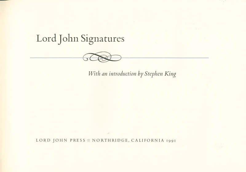Image 3 for Lord John Press - Book Signed with co-signers - HFSID 281342