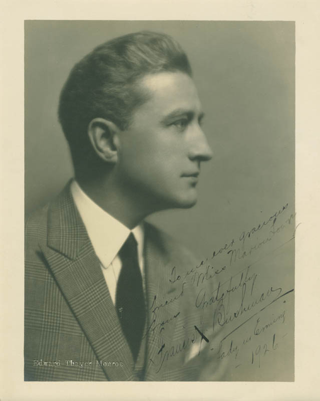Image 1 for Francis X. Bushman - Autographed Inscribed Photograph 1926 - HFSID 281384