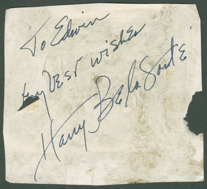 Image 1 for Harry Belafonte - Autograph Note Signed - HFSID 281423