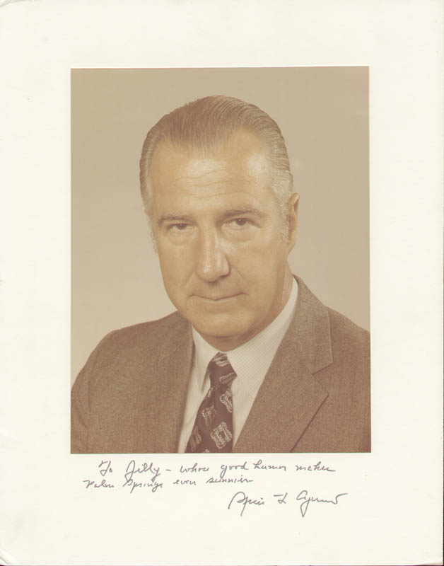 Image 1 for Vice President Spiro T. Agnew - Inscribed Photograph Mount Signed - HFSID 281486