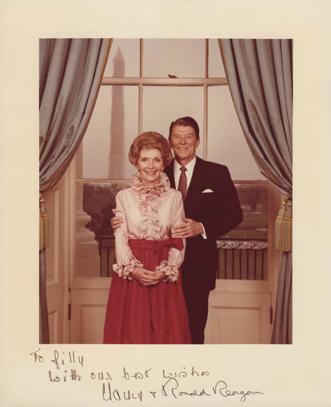 Image 1 for President Ronald Reagan - Autographed Signed Photograph co-signed by: First Lady Nancy Davis Reagan - HFSID 281500